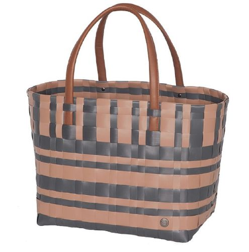 Shopper geflochten Shopper Lumberjack grau-braun