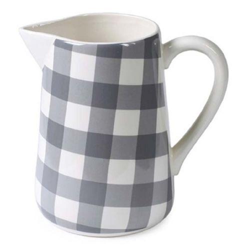 Milchkrug grau weiß