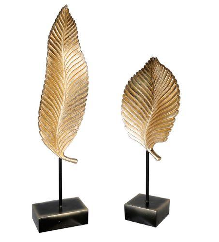 Skulptur Goldleaf 2er Set