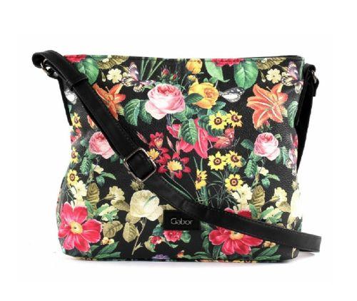 Gabor Tasche  Blumen schwarz