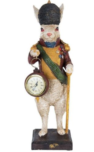Osterhase retro Uhr