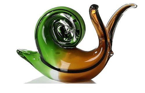 Skulptur Glas Schnecke