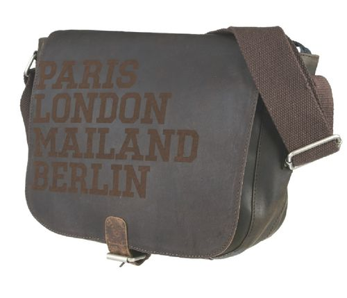 Messenger bag twenty five new city braun