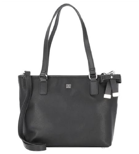 Damen Shopper Saffiano blau